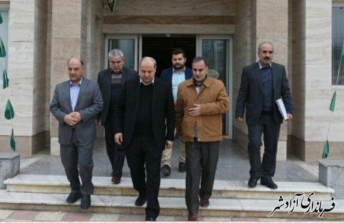 بازدید استاندار گلستان از فرمانداری شهرستان آزادشهر