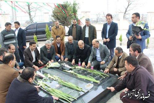 ادای احترام استاندار گلستان به شهدای گمنام در دانشگاه آزاد اسلامی واحد آزادشهر
