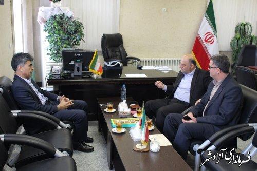 دیدار مدیرکل منابع طبیعی و آبخیزداری استان گلستان با فرماندار آزادشهر