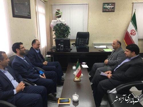 دیدار مدیرعامل شرکت توزیع برق استان گلستان با فرماندار آزادشهر