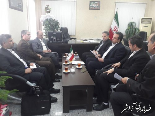 برگزاری جلسه فرماندار آزادشهر با مدیرکل فرهنگی و اجتماعی استانداری گلستان