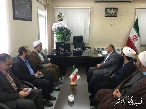 نشست مدیرکل اداره اوقاف استان گلستان با فرماندار شهرستان آزادشهر