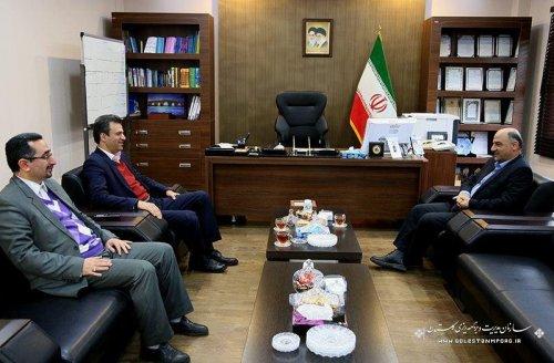دیدار فرماندار آزادشهر با رئیس سازمان مدیریت و بودجه استان گلستان