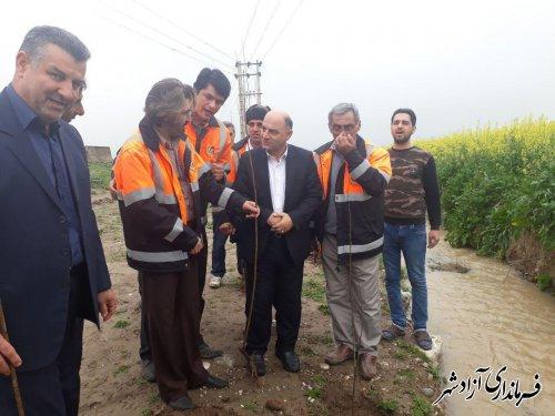با حضور فرماندار آزادشهر: کاشت نهال در حاشیه جاده آزاد شهر به نوده خاندوز انجام شد