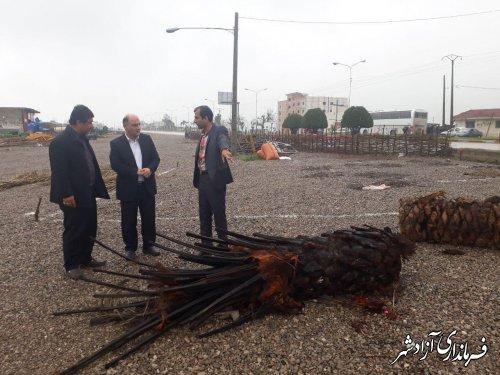 بازدید فرماندار آزادشهر از آماده سازی و روند اجرایی دهکده گردشگری این شهرستان