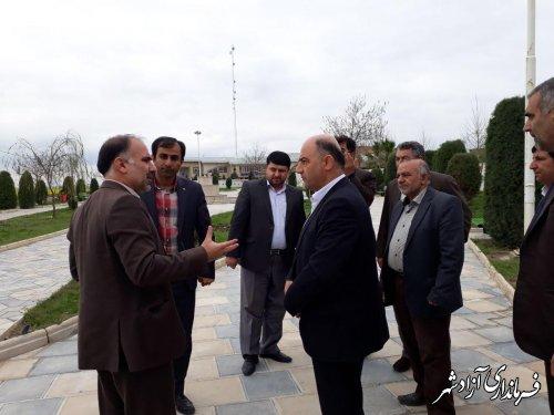 بازدید فرماندار آزادشهر از شهرداری نگین شهر