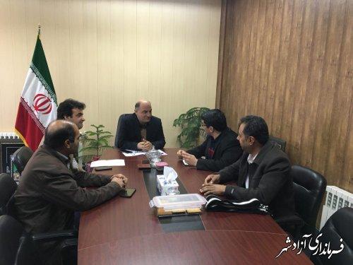 دیدار مدیر شرکت ساخت و توسعه راههای استان گلستان با فرماندار آزادشهر
