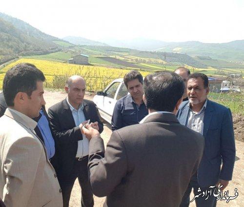 بازديد فرماندار آزادشهر از روستای مرزبن بخش مركزي