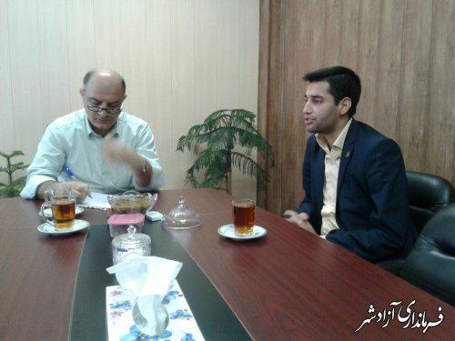 دیدار مسئول بنیاد برکت استان گلستان با فرماندار آزادشهر
