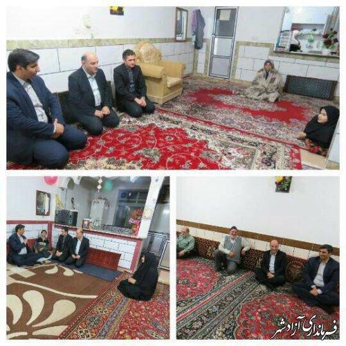 دیدار فرماندار با مددجویان بهزیستی شهرستان آزادشهر