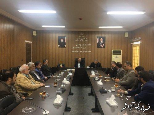 نشست فرماندار آزادشهر با جمعی از اصولگرایان این شهرستان