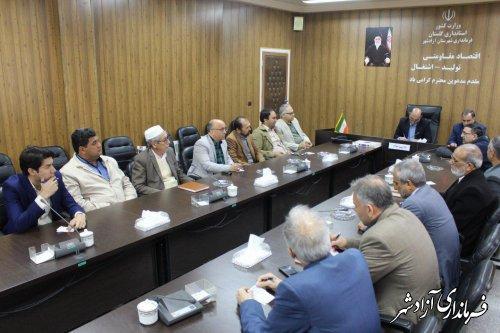 نشست فرماندار آزاشهر با جمعی از اصلاح طلبان این شهرستان