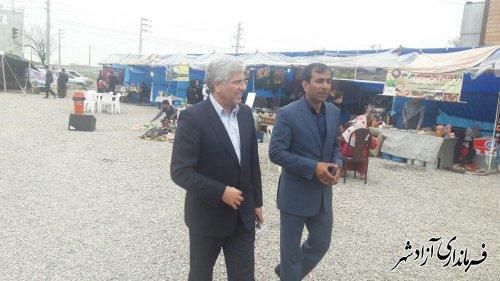 بازدید معاون مدیرکل دفتر امور روستایی و شوراهای استانداری از نوروزگاه شهرستان آزادشهر