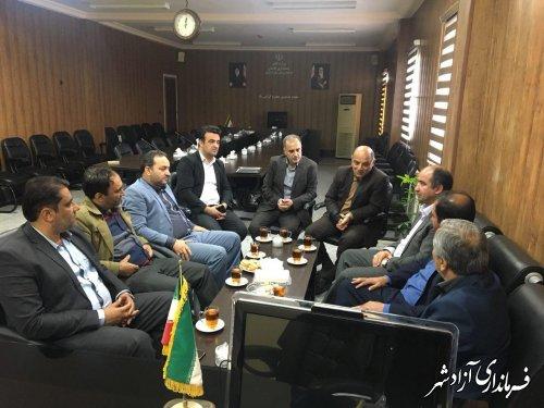 دیدار نوروزی شهردار و اعضای شورای شهر آزادشهر با فرماندار این شهرستان