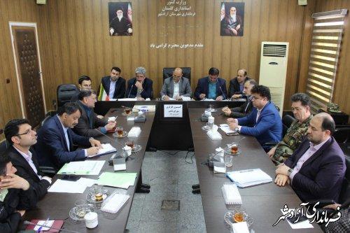 جلسه کمیسیون کارگری شهرستان آزادشهر برگزار شد