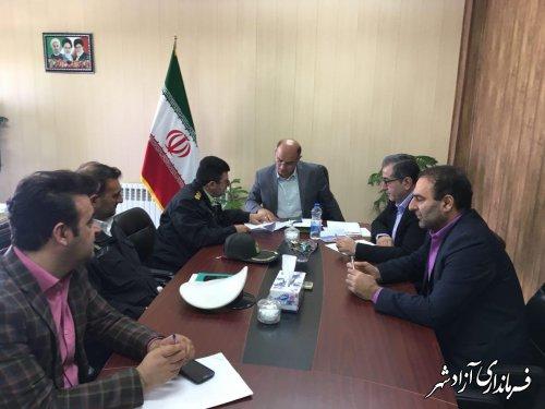 جلسه بررسی مشکلات کلانتری  شهر نوده خاندوز برگزار شد