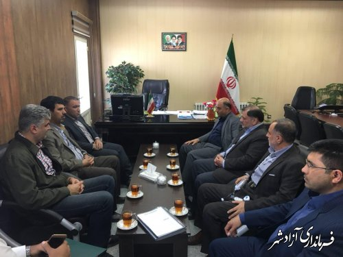 دیدارمدیرکل راه و شهرسازی استان گلستان با فرماندار آزادشهر
