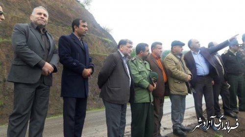 بازدید فرماندار و اعضای شورای تامین شهرستان آزادشهر از سد نرماب مینودشت
