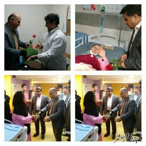 عیادت فرماندار شهرستان آزادشهر از بیماران در هفته سلامت