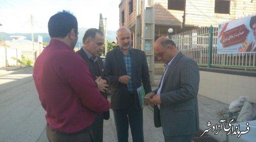 بازدید فرماندار آزادشهر از طرح های عمرانی روستای ازدارتپه