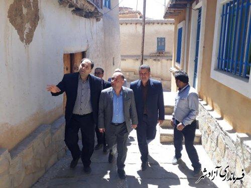 بازدید فرماندار آزادشهر از بافت با ارزش روستای فارسیان