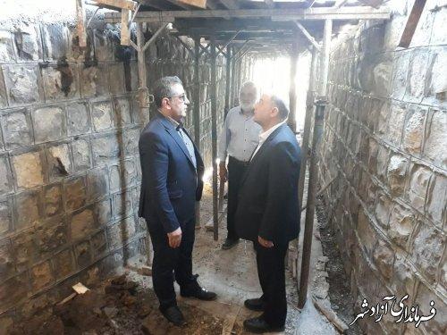بازدید فرماندار آزادشهر از پروژه های شهرداری نوده خاندوز