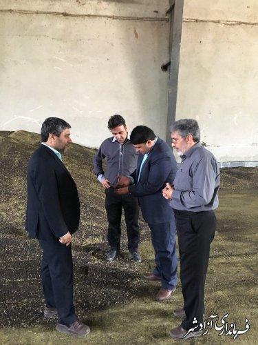 بازدید معاون فرماندار آزادشهر از مراکز خرید گندم و کلزا