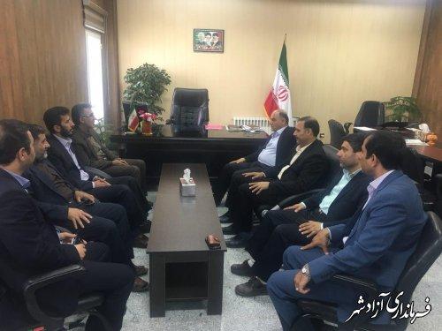 دیدار مدیرکل آموزش و پرورش استان گلستان با فرماندار شهرستان آزادشهر
