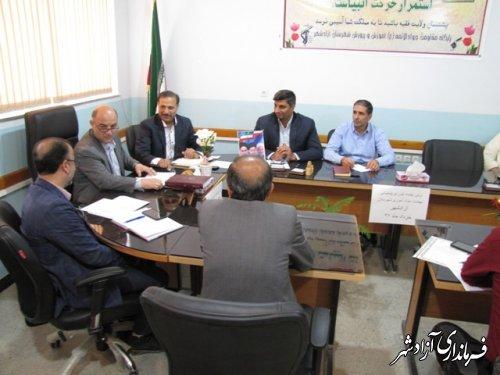 اولین جلسه شورای پشتیبانی سواد شهرستان آزادشهر تشکیل جلسه داد