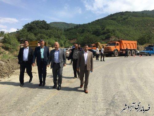 رانش جاده در محور اصلی آزادشهر به شاهرود