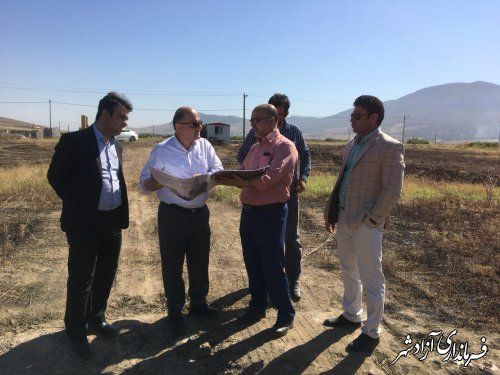 بازدید فرماندار آزادشهر از آغاز ساخت کارخانه اسید سولفوریک در شهرک صنعتی این شهرستان