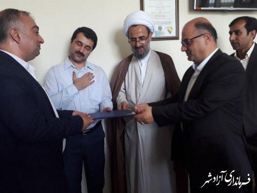 دیدار فرماندار آزادشهر با کارکنان اداره تامین اجتماعی این شهرستان