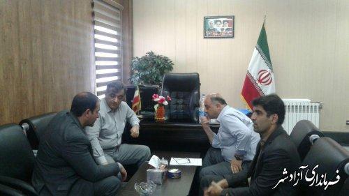 دیدار مدیرعامل شرکت آب و فاضلاب استان با فرماندار آزادشهر