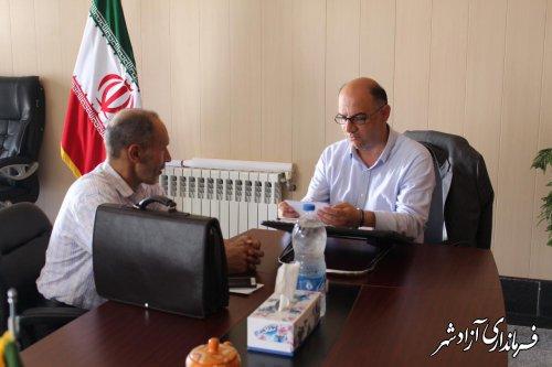 ملاقات عمومی فرماندار آزادشهر با مردم برگزار شد