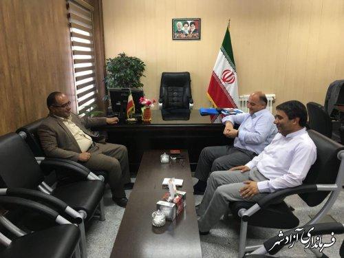 دیدار مدیرکل پدافند غیرعامل استان با فرماندار شهرستان آزادشهر