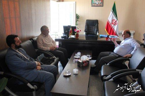 دیدار مشاور استاندار و مدیرکل حراست استانداری با فرماندار شهرستان آزادشهر