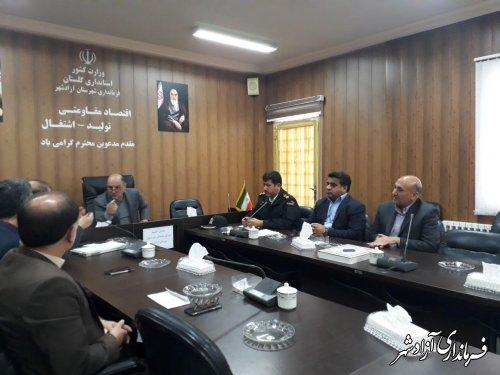 جلسه شورای هماهنگی ثبت احوال شهرستان آزادشهر برگزار شد
