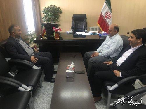 دیدار دبیر مجمع نمایندگان استان گلستان با فرماندار شهرستان آزادشهر