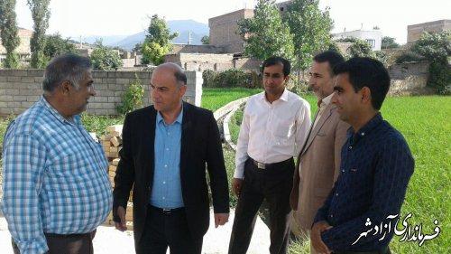 بازدید فرماندار شهرستان آزادشهر از پروژه های عمرانی روستای نیلی