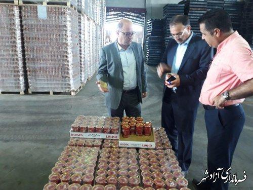 بازدید فرماندار شهرستان آزادشهر از کارخانه بزرگ رب گلچشمه