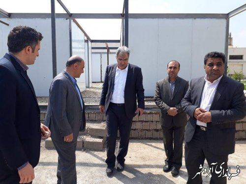 بازدید فرماندار شهرستان آزادشهر از طرح توسعه بیمارستان 64 تخت خوابی حضرت معصومه (س)