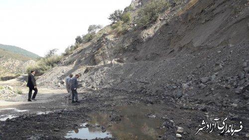 بازدید فرماندار شهرستان آزادشهر از زیرسازی و آسفالت راههای ارتباطی بخش چشمه ساران