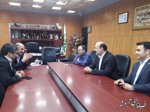دیدار فرماندار شهرستان آزادشهر با مدیرعامل کارخانه صنعتی صباح