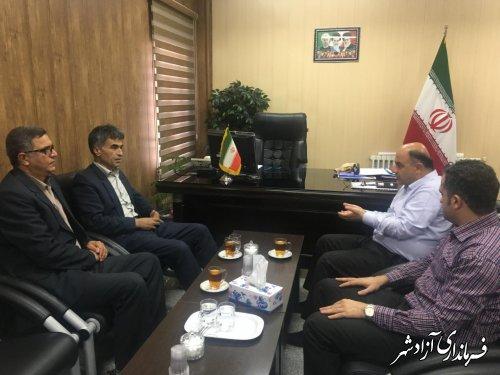 دیدار مدیرکل منابع طبیعی و آبخیزداری استان با فرماندار شهرستان آزادشهر