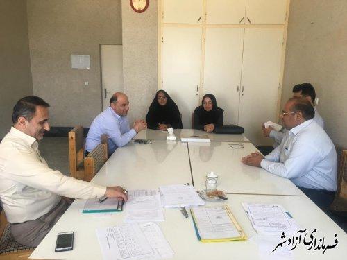 حضور هیات عالی بازرسی استانداری گلستان در فرمانداری شهرستان آزادشهر