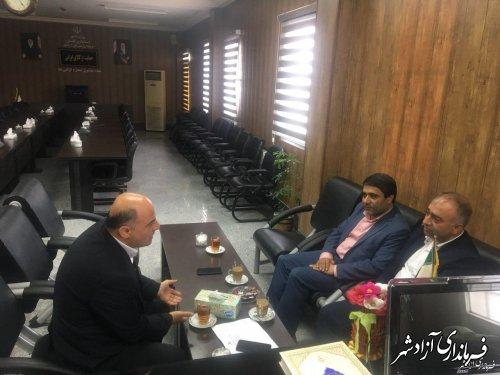 جلسه مشترک حسینی فرماندار شهرستان آزادشهر با ابراهیمی نماینده مجلس شورای اسلامی
