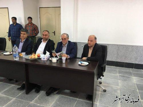 دیدار فرماندار شهرستان آزادشهر با معاون وزیر جهادکشاورزی و رییس سازمان جنگل ها