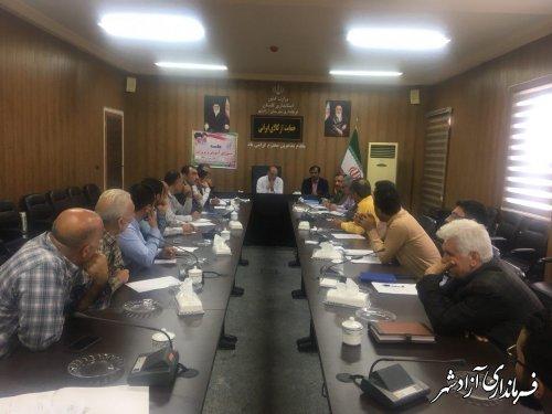 جلسه شورای آموزش و پرورش شهرستان آزادشهر تشکیل شد