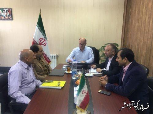 دیدار نماینده مردم شهرستان های آزادشهر و رامیان در مجلس شورای اسلامی با فرماندار
