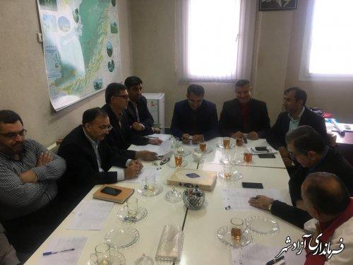 دومین جلسه ستاد گرامیداشت هفته دولت در شهرستان آزادشهر برگزار شد
